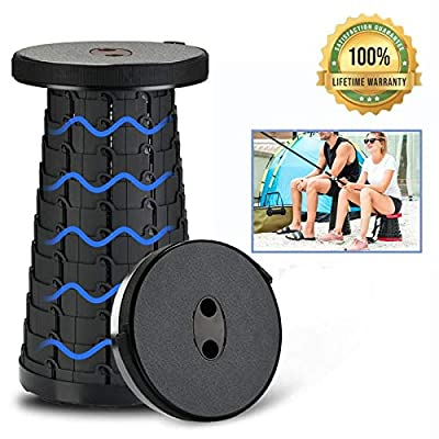 Tintonlife Portable Folding Stools for Adults Kids Plastic Retractable Camping Stool Lightweight Collapsable Stool Portable Seat Camp Stool for Fishing BBQ Outdoors Indoors Kitchen Max Load 150KG: Kitchen & Dining