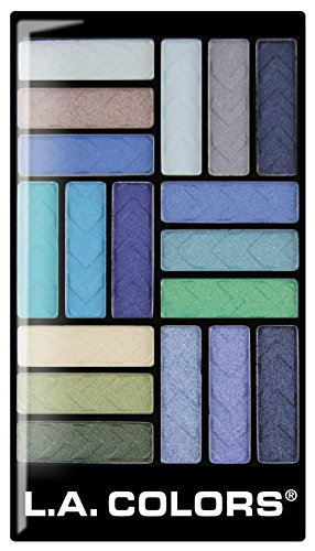 L.A. Colors 18 Color Eyeshadow Palette, Shady Lady, 0.70 Oun