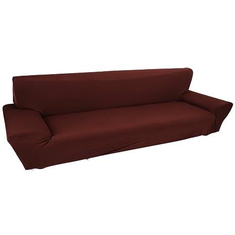 Fundas de sofá de 4 plazas 7 colores sólidos Funda de estiramiento completo Tela elástica Soft Couch Cover Sofa Protector Muebles de casa (Color : ...