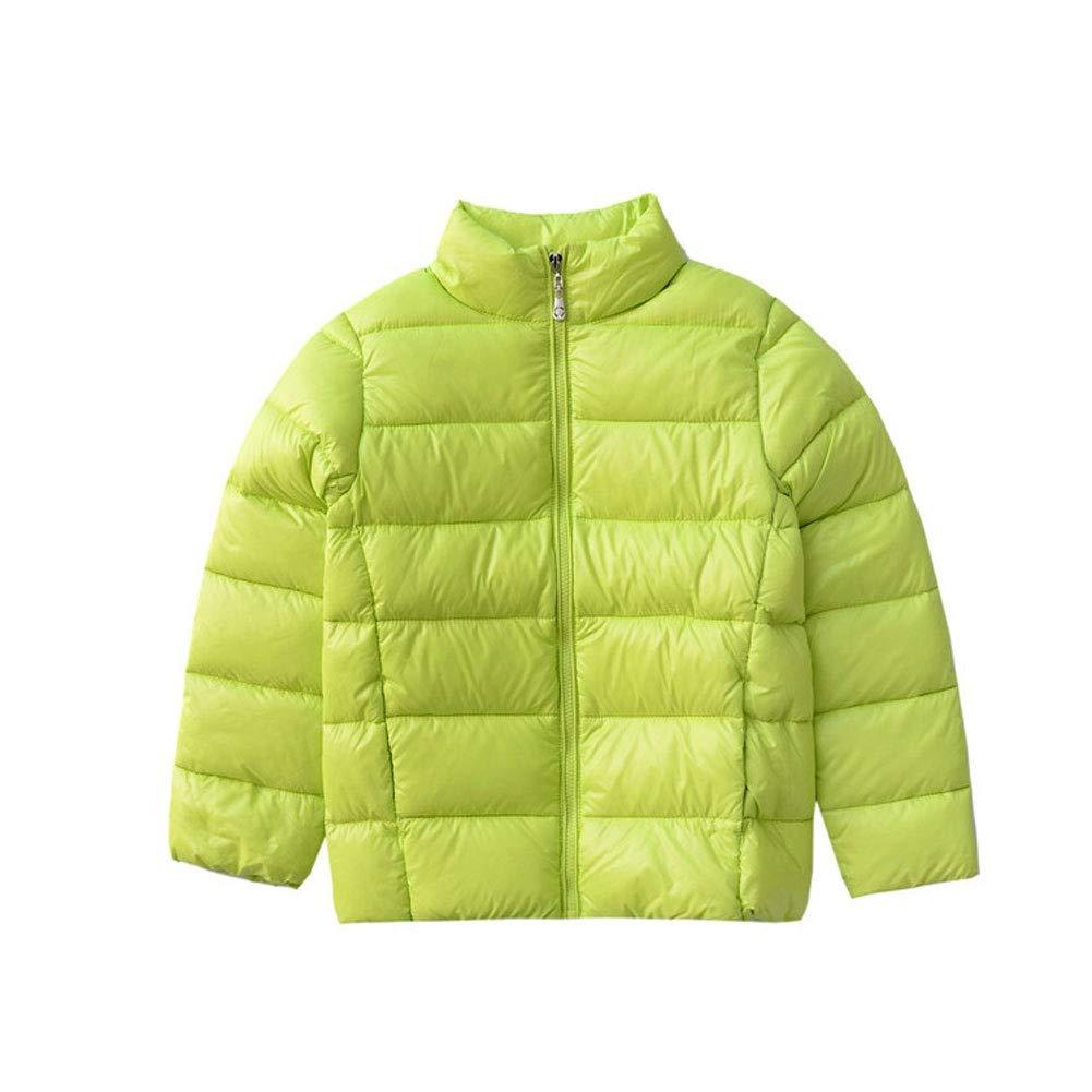 vert 140cm YZ-HODC Doudoune pour Enfant Nouvelle Veste Droite et légère vers Le Bas Veste en Duvet pour garçons et Filles