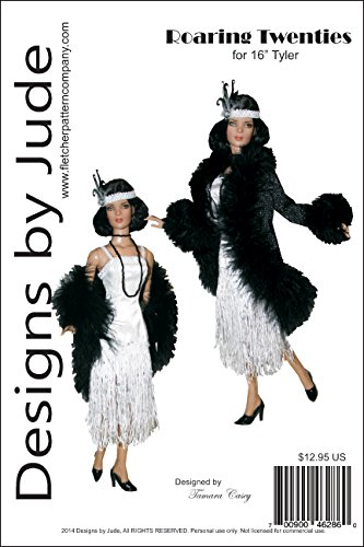 "Roaring Twenties Flapper Printed Sewing Pattern for 16"" Tyler Wentworth Dolls Tonner"
