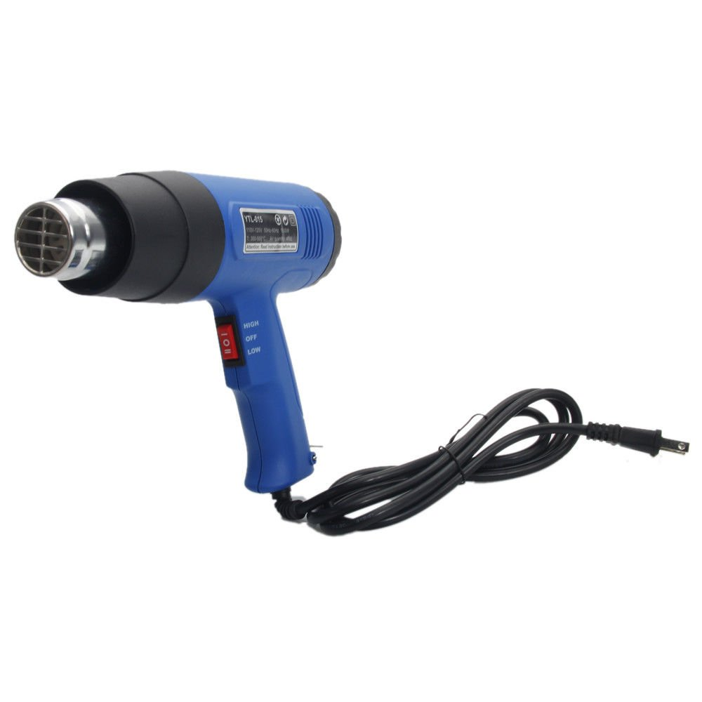 1500 Watts Electric Heat Gun Hot Air Wind Blower Power Heater Dual Temperature w/ 4 Nozzles | Heavy Duty for Shrink Wrap Vinyl Craft Cell Phone Repair Paint Remover Drying Shrink Tubing BBQ Lighting by Cirocco (Image #3)