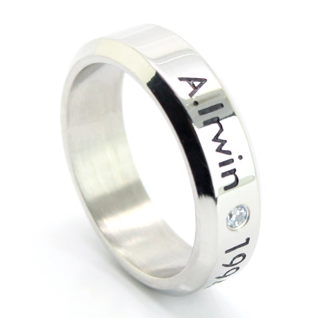 Fanstown Irwin handmade titanium birthday ring necklace