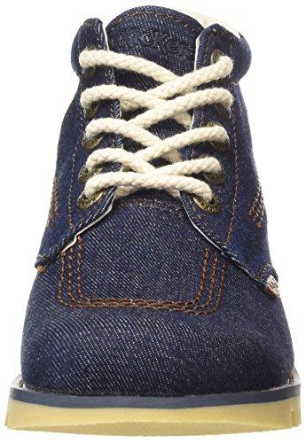 Kick Hi Boots Dark Ankle Women's Dk Kickers Denim Blue Textile Blue AF Blue Cf1q1Tdw