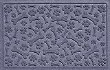 Bungalow Flooring Aqua Shield Paws and Bones Pet Mat, 17.5 x 26.5, Bluestone