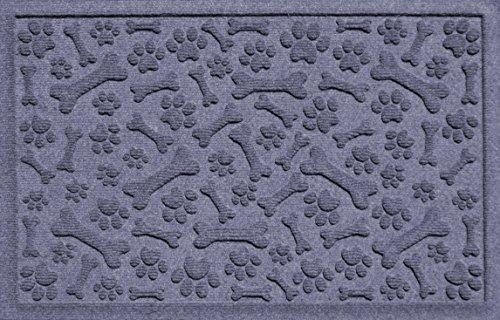 Bungalow Flooring Aqua Shield Paws and Bones Pet Mat, 17.5 x 26.5, Bluestone by Bungalow Flooring