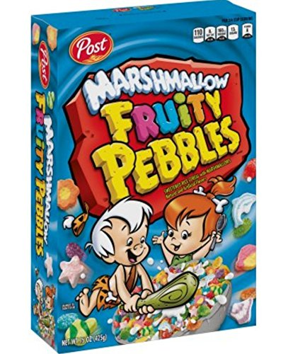 Post Marshmallow Fruity Pebbles Cereal 11 oz. (2 Pack) ()