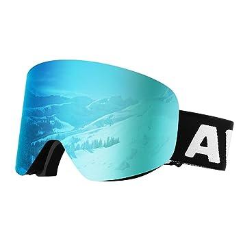 Awenia Gafas de Esquí Antivaho Gafas de Snowboard Magnéticas Desmontables OTG, Protección UV400, para Hombres Mujeres Adultos Jóvenes: Amazon.es: Deportes y ...