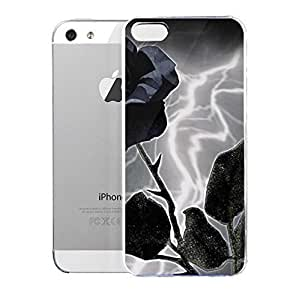 Light weight with strong PC plastic case for iPhone iphone 5c Art Fantasy & Dragons Purple Lightening Rose