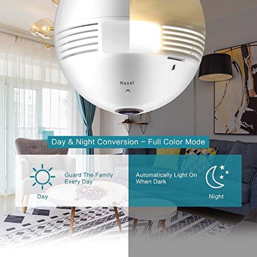 Wireless Led Bulb Wifi Ip Hidden Camera 360 Degree