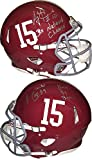 AJ McCarron Signed Autograph Alabama Crimson Tide Full Size Speed Authentic Riddell Helmet #15 2 Sig #10 3x National Champs- McCarron Holo