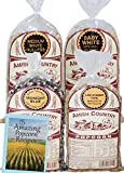 Amish Country Popcorn - 4 (1) Lb Variety Bundle with Recipe Guide - Baby White Popcorn, medium White Popcorn, Ladyfinger Popcorn and Midnight Blue Popcorn