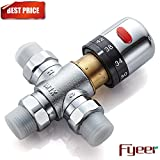 #7: Fyeer 3-Way Thermostatic Mixing Valve, Solid Brass, 1/2