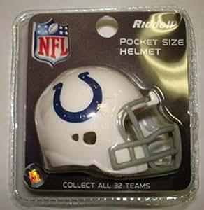 Riddell Revo Pocket Pro - Réplica de casco de los Indianapolis Colts