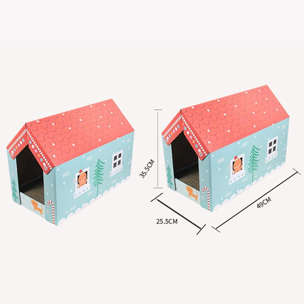 alloet Corrugated Paper Cat Grab Board Wear-Resistant Cat House Grinder Kitten Toy by alloet (Image #5)
