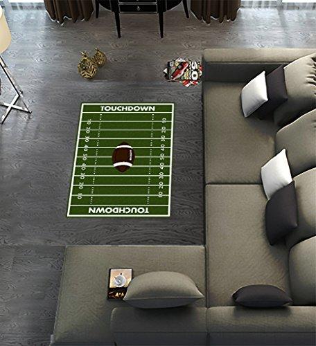 Custom Football Ground Area Rugs Carpet,Football Ground Modern Carpet Floor Rugs Mat for Home Living Dining Room Playroom Decoration Size 2'7