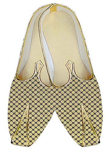 INMONARCH Boda de Poliéster Amarillo Hombres Diseñador de Calzado MJ14097