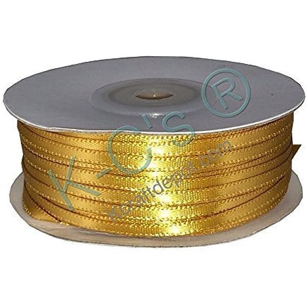 38 Mango Light Gold Satin Ribbon 100 Yards Per Roll