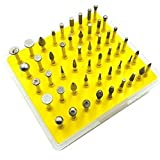 Lukcase 50pcs Diamond Coated Grinding Head Grinding Burrs Set for Dremel Rotary Tool (Small Head Style)