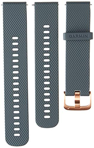 Garmin Quick Release Band, 20mm, Granite Blue with Rose Gold Hardware