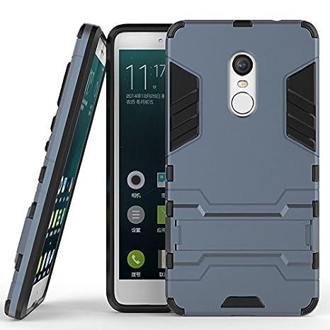 buy online 71e09 10fa3 TARKAN Heavy Duty Shockproof Armor Kickstand Back Case Cover for Xiaomi  Redmi Note 4 [Black]