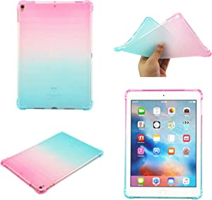 iPad Pro Case,MOLLYCOOCLE [Gradient Quicksand Series] Glitter Sparkle iPad Pro Case with Slim Shockproof TPU Gel Bumper Case Cover for iPad Pro 10.5 Inch