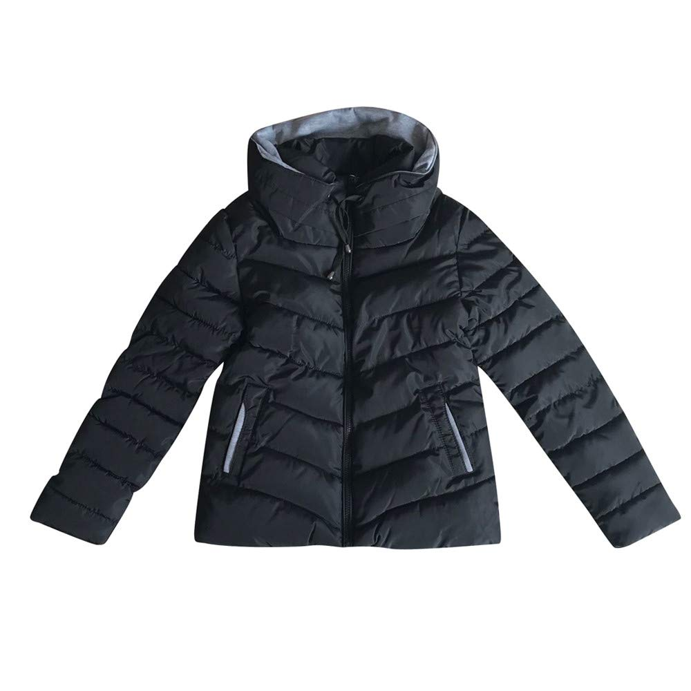 LOPILY Damen Steppjacke Kapuzen Quilted Jacket Solide Dicker