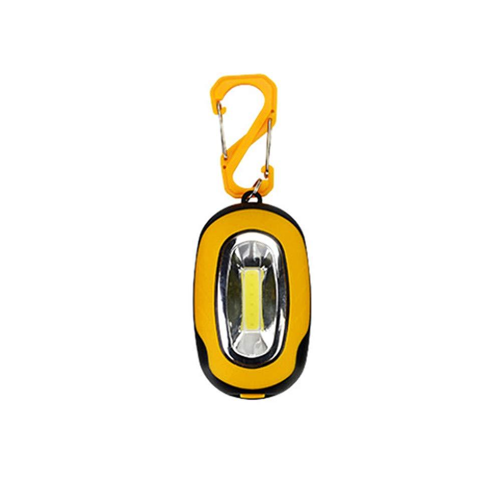 Glumes 1PCS Pocket Magnetic Flashlight – Small Keychain Super-Bright Led Flashlight, Most Powerful Strobe Flashlight with Carabiner