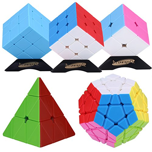 Dreampark Stickerless Pyramid Megaminx Perfect