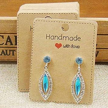 Amazon Com Necklace Cards 100 Pcs Per Lot Multi Size Diy