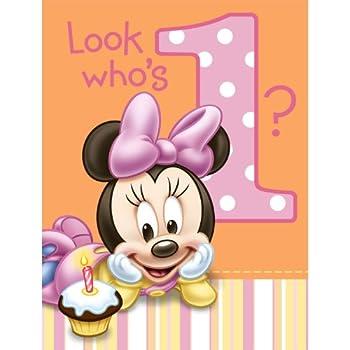 Amazoncom Hallmark Minnies St Birthday Invitations Ct - 1st birthday invitations hallmark
