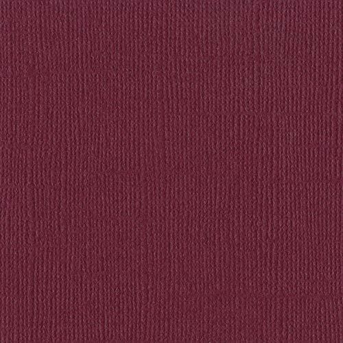 Bazzill JUNEBERRY 12x12 Textured Cardstock | 80 lb Reddish Boysenberry Color Scrapbook Paper | Premium Card Making and Paper Crafting Supplies | 25 Sheets per Pack ()