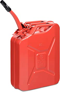 Goplus 20 Liter (5 Gallon) Jerry Fuel Can with Flexible Spout