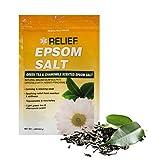 RELIEF Epsom Salt Soak - Green Tea & Chamomile Scented Epsom Salt, 1lb