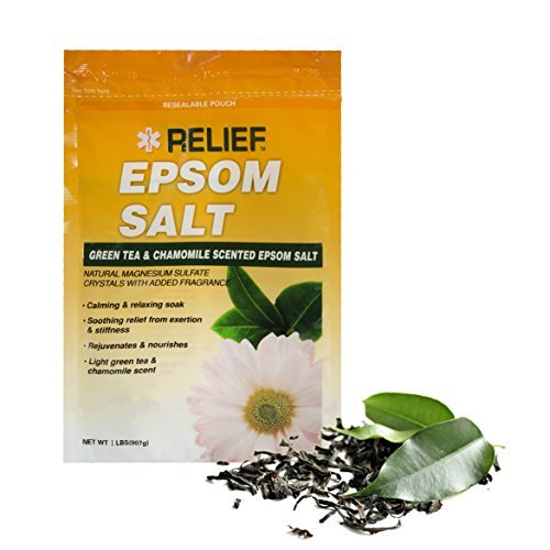 ak - Green Tea & Chamomile Scented Epsom Salt, 1lb (Green Tea Soak)