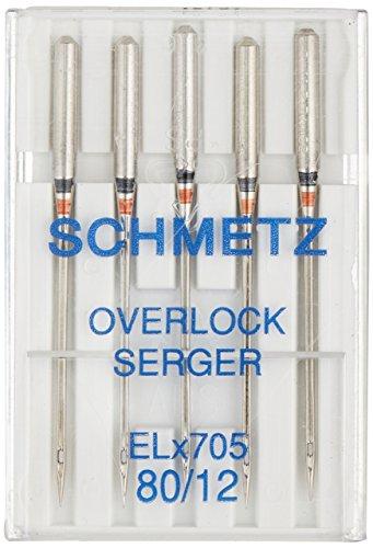 Schmetz ELX705 Serger Needles, Size 12/80 5/Pkg