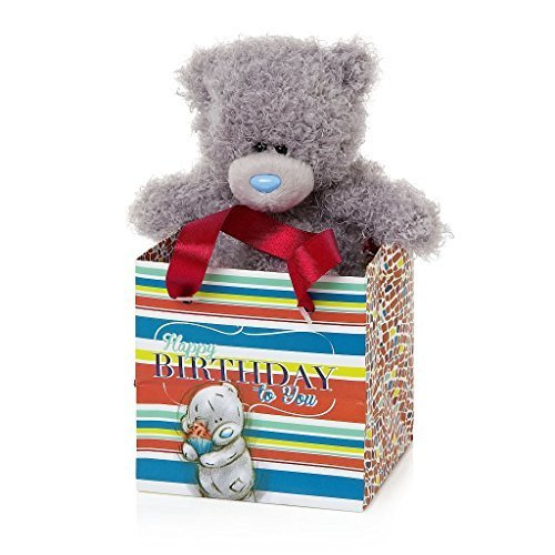 Me to You 5-inch Tatty Teddy Bear and Happy Birthday Gift Bag (grau) by Me To You