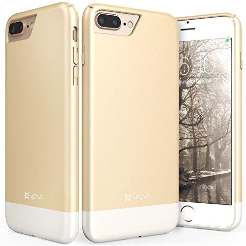 iPhone 8 Plus Case, iPhone 7 Plus Case, Vena [iSlide][Two-Tone] Dock-Friendly Slim Fit Hard Case Cover for Apple iPhone 8 Plus / iPhone 7 Plus (5.5