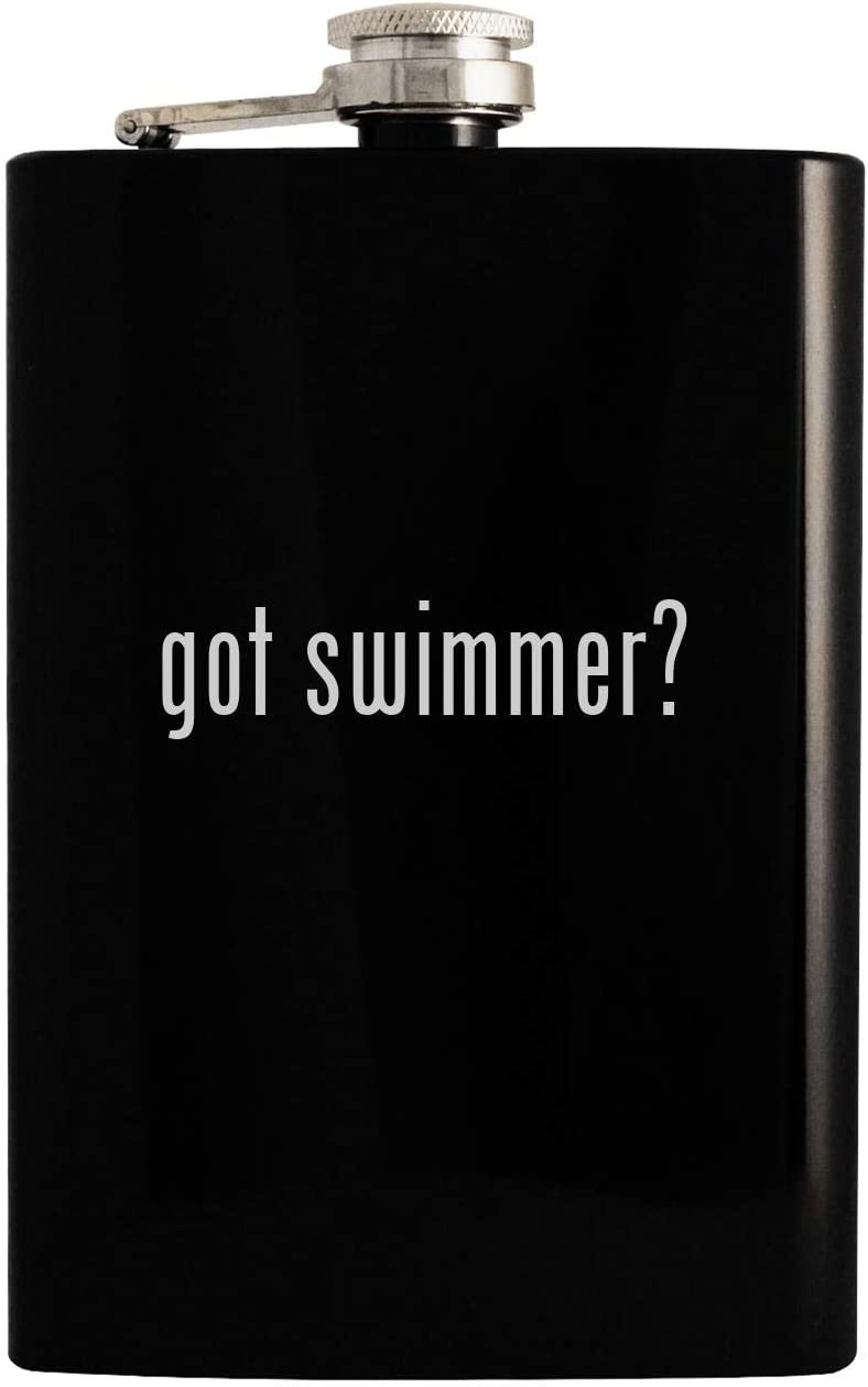 got swimmer? - Black 8oz Hip Drinking Alcohol Flask