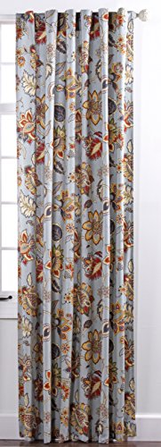 Stylemaster Home Products Twill and Birch Celine Lined Printed Backtab Pocket Panel, 56 by 84-Inch, Provence