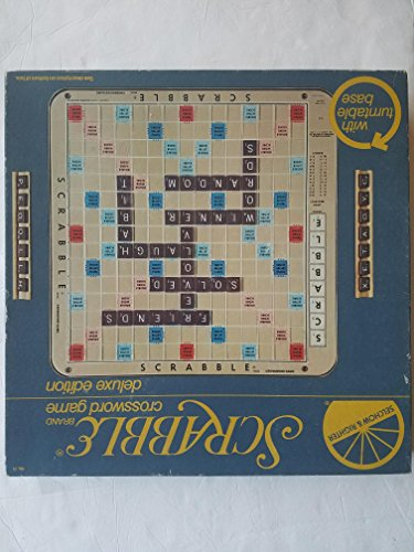 Scrabble Deluxe 1977 Edition Plastic rotating Turntable game Board With Grid (Scrabble Turntable Board)