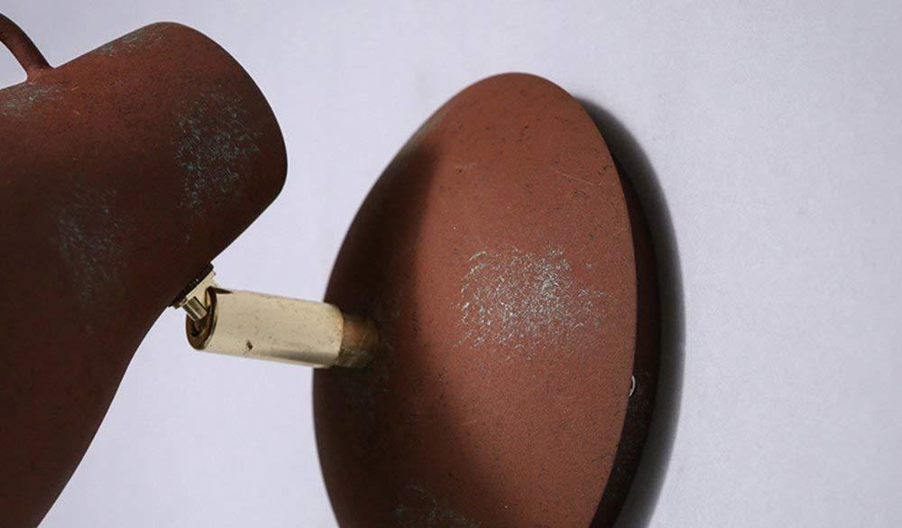HhGold Retro-Stil Lampe Eisen Körper aus aus aus Eisen Lampenschirm E27 Wandleuchte (Farbe   -, Größe   -) 1caab6