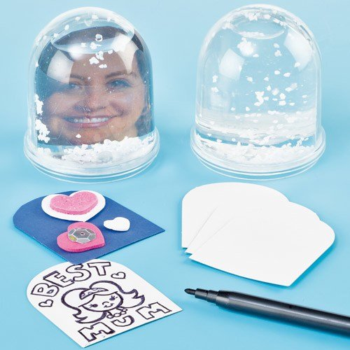 Baker Ross Colour-in Snow Globes (Box of 4) for Kids to Decorate ()