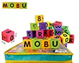 MOBU Eva Foam Building Blocks 30 Pcs Soft Alphabet Blocks (ABC) Numbers Blocks (123) Animal Multi-colored Child's Cognitive Preschool Educational Toys Playing Indoor Outdoor Bathroom Bathtub or Beach