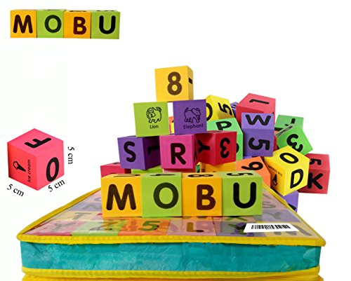 [MOBU Eva Foam Building Blocks 30 Pcs Soft Alphabet Blocks (ABC) Numbers Blocks (123) Animal Multi-colored Child's Cognitive Preschool Educational] (Animals That Start With The Letter A)