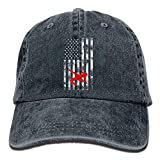 Eveler Wrestling Wrestler USA Flag Pride Classic Unisex Baseball Cap Adjustable Washed Dyed Cotton Ball Hat