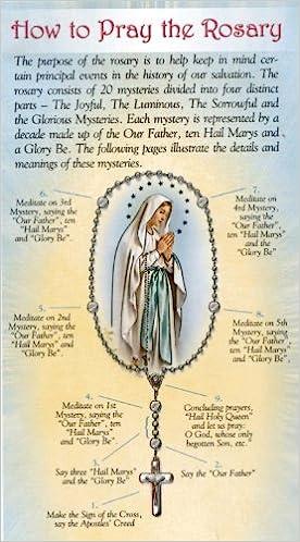 How To Pray The Rosary Folder Inc William J Hirten Co