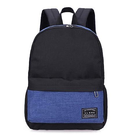 Mochilas de Lona para Mochilas KAIMENG Bolsas Casuales para excursiones Escolares (Azul)