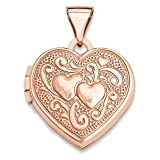 Top 10 Jewelry Gift 14k Rose Gold 15mm Heart Locket