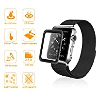 Apple Watch Screen Protector 38mm (Series 1/Series 2),Amoner Tempered Glass Screen Protector[Anti-scratch] [Bubble-free] for Apple Watch 38mm Clear HD Anti-Bubble Film by Amoner
